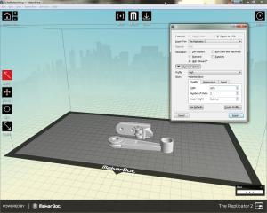 Makerware - die Softweare zur Vorbereitung des 3D-Drucks
