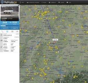Daten aus vielen Quellen bilden einen neuen Dienst - hier Flightradar24.