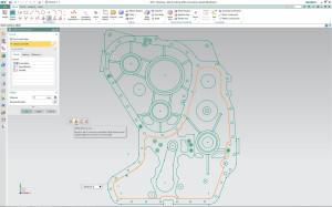 Synchronous Technology machts möglich: In dieser komplexen Zeichnung passt man die Dichtfläche sehr einfach an.