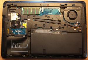 Aufgeräumt: Das Innere des ZBook 14.