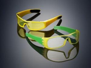 In einem Rutsch gedruckt: Brille mit opakem, durchsichtigem und weichem Material.