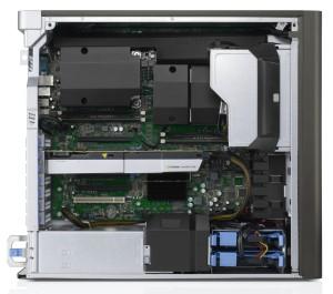 Workstation-Gehäuse - hier eine Dell Precision T7610 - sind mit ausgeklügelten Kühlluftführungen ausgestattet (Bild: Dell).