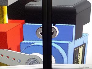 Normale Darstellung: Der Rand zwischen den Monitoren schiebt das Bild auseinander.
