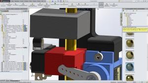 In SolidWorks kann die zusätzliche Fläche seitlich mit der Historienleiste und den Eigenschaften genutzt werden.