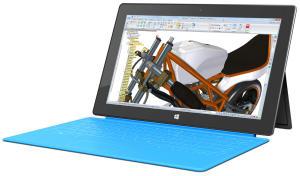 Solid Edge ST7 läuft auch auf dem Surface Tablet (Alle Bilder: Siemens PLM Software).