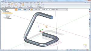 3D-Skizzen ermöglichen das Definieren von Pfaden in drei Dimensionen (Alle Bilder: Siemens PLM Software).