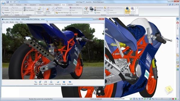 Für die Visualisierung wurde Keyshot in Solid Edge integriert.