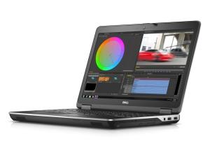 Der Bildschirm bietet auch schräg von der Seite kraftvolle Farben (Bild: Dell).