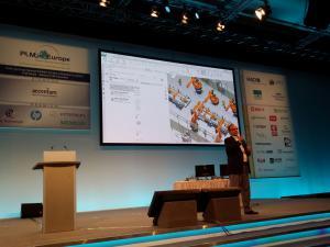 Eric Sterling zeigte am Beispiel von Line Designer, wie Apps zusammenarbeiten.