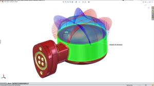 Krümmungskämme zeigen die Qualität gekrümmter Flächen auf einen Blick (Bild: SolidWorks).