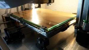 Viel Platz: Ein 200 x 300mm großes beheiztes Druckbett.