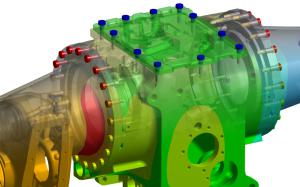 Komplexe Bauteile schnell analysieren - das ermöglicht die Ansys Workbench (Bild: Cadfem).