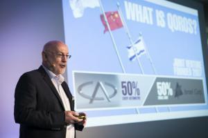 Gert Volker Hildebrand eröffnete das Automotive Innovation Forum (Alle Bilder: Autodesk)