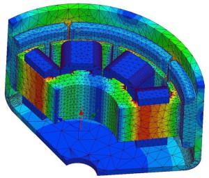 Simulation von Elektromotoren ist eines der angebotenen Themen (Bild CADFEM).