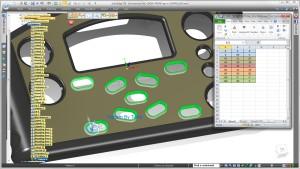 Muster von Mustern - in Solid Edge ST8 schnell erkannt und im Tabellenblatt editiert (Alle Bilder: Siemens PLM Software).