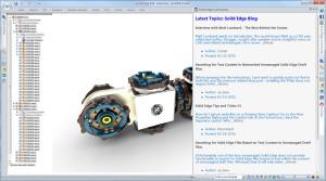 Solid Edge ST8 bietet direkten Zugriff auf Blogs mit Tipps und Tricks.