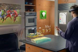 Die Augmented-Reality-Umgebung in Windows 10 mit Datenbrille ließe sich auch für die Darstellung von technischen Modellen nutzen (Bild: Autodesk).