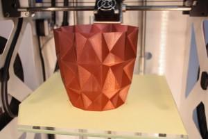 Das auf der Euromold präsentierte PET-Filament zeigte einen sehr schönen Oberflächenglanz.