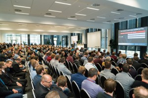 Fast 550 Besucher lauschten beim Bechtle Experience Day dem SolidWorks CEO Gian Paolo Bassi (Bild: Bechtle).