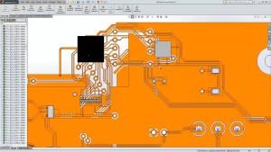 Der SolidWorks-Anwender sieht in seiner Umgebung ein detailliertes Modell der Leiterplatte, (alle Bilder: SolidLine)