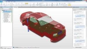...ebenso wie der Elektronikentwickler, der in PCBWorks das 3D-Modell des Produkts sieht und sein Layout entsprechend optimieren kann. Rechts sieht man die Kommunikation der beiden Abteilungen.