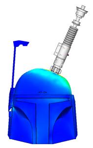 Bonk, der saß: SolidWorks simuliert Star Wars (Bild: GoEngineer/Shivani Patel)