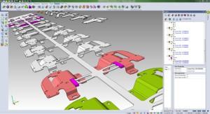 Visi Progress: Bei Artikeländerungen werden dieTeile im 3D-Methodenplan automatisch aktualisiert.