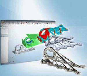 Organische Strukturen, die Material sparen - eine Domände des Metall-3D-Drucks (Bild: Altair).