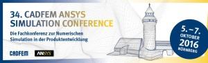 34. CADFEM ANSYS Simulation Conference @ NCC Ost der NürnbergMesse | Nürnberg | Bayern | Deutschland
