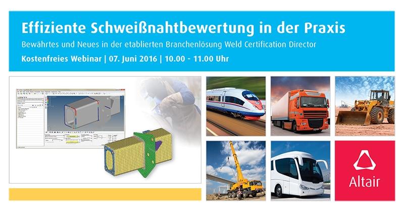 Effiziente Schweißnahtbewertung mit Altair Weld Certification Director @ Webinar