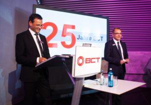 Klaus Erdrich und Jürgen Hillemann (v.l.) sprachen beim Technologietag der BCT über Industrie 4.0 im Mittelstand (alle Bilder: BCT).