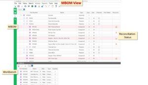 Die MBOM-Ansicht in Aras MPP ermöglicht eine fehlerfreie Erzeugung aus der Konstruuktionsstückliste.