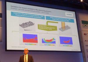 Die Additive Manufacturing Solution für NX11 kann den Lasersintervorgang bis auf Pulverkornebene hinab simulieren und analysieren.