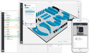 Mit Grabcad Print lassen sich Baugruppen automatisiert platzieren und der Druck remote überwachen.