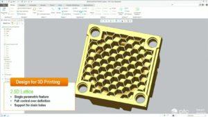 2,5D-Infill ist in Creo 4.0 ein paranmetrisches Feature (Screenshot aus der Breakout-Session von PTC).