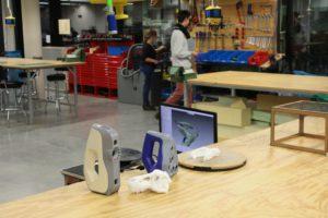 Die Artec-3S-Scanner sind bereit zum Scannen im MakerSpace der TU München.