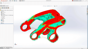 SolidWorks integriert in SolidWorks 2018 eine Topologieoptimierung (Bild: SolidWorks).