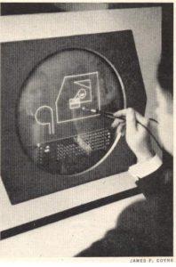 """Ein richtiger CAD-Anwender an einem echten CAD-System (Bild aus """"The Engineering Design Revolution"""")."""