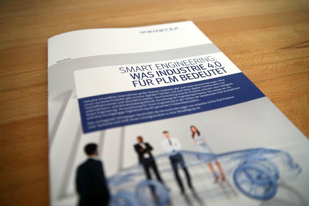Das neue Prostep- Whitepaper zur Industrie 4.0 beschreibt Lösungen für smarte Produktentwicklungsumgebungen (Bild: Prostep).