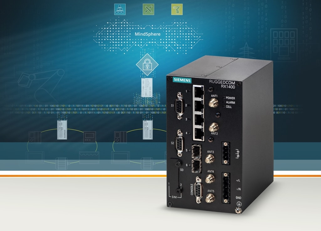 Der Mobilfunkrouter Ruggedcom RX1400 von Siemens überträgt IoT-Daten direkt an Mindsphere (Bild: Siemens).