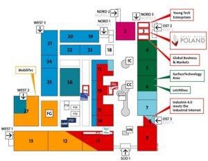 Geländeplan der Digital Factory der Hannover Messe