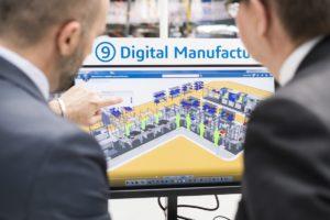 Digital Manufacturing-Software auf dem Bildschirm