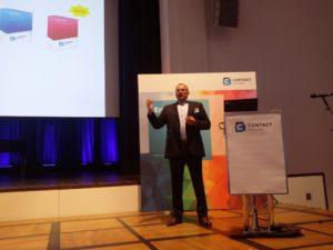 Karl-Heinz Zachries, Gründer und Geschäftsführer von Contact Software, bei der Contact Open World