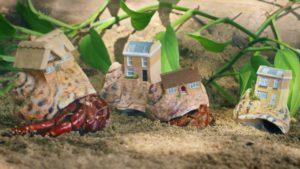3D-gedruckte Schneckenhäuser aus dem Drucker von Stratasys