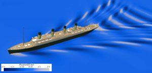 Das Wellenmuster der Titanic