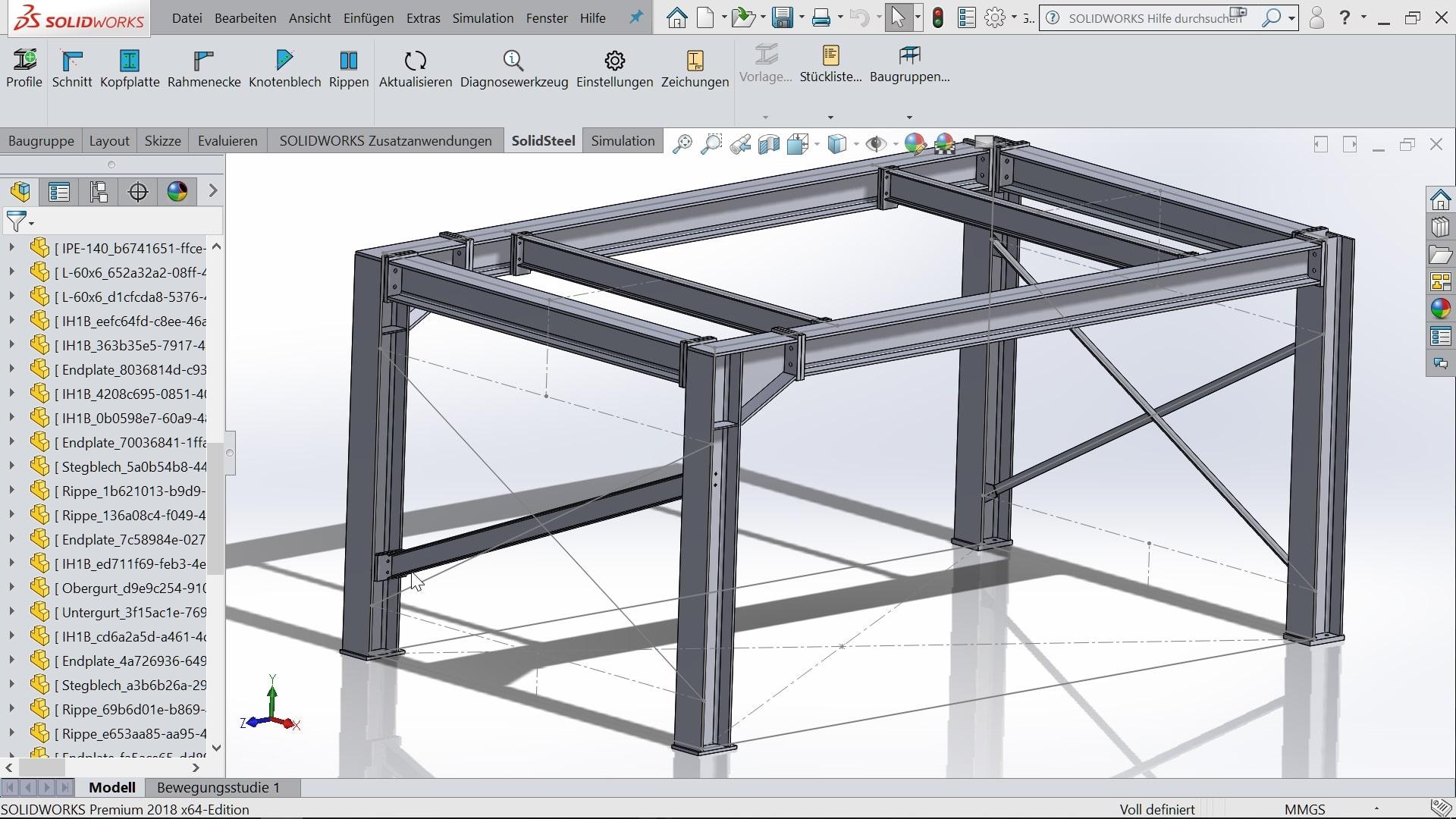 SolidSteel: Klietsch präsentiert Stahlbau für SolidWorks