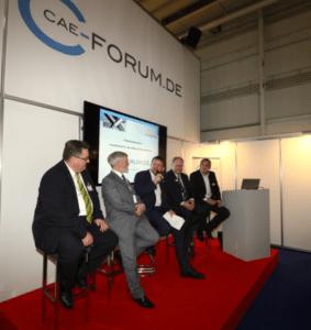 Podiumsdiskussion auf dem CAEForum