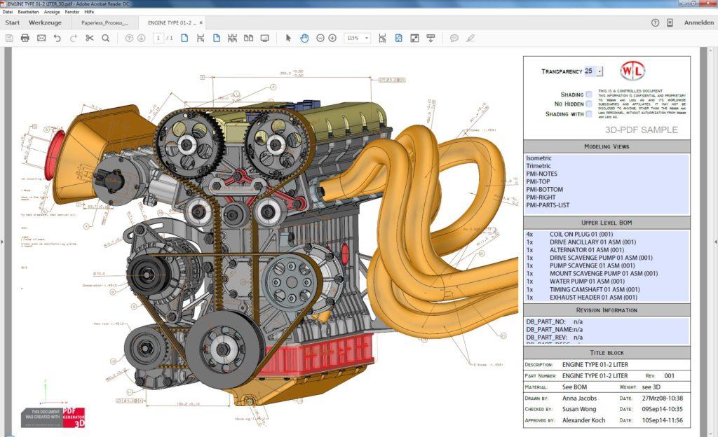 PDF-Generator 3D 8.0 der Prostep AG