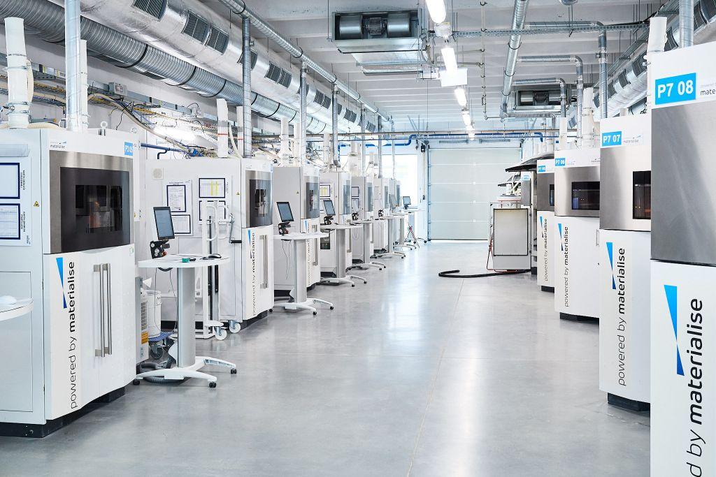 Druckerfarm bei Materialise