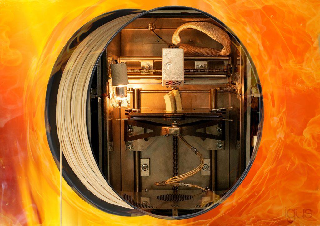 igus Hochtemperatur-3D-Drucker für iglidur J350
